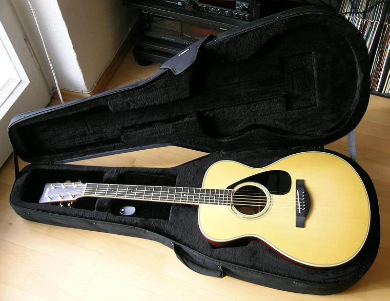 Yamaha LL6 ARE DT, Akustisk Gitar mMikrofon & Koffert