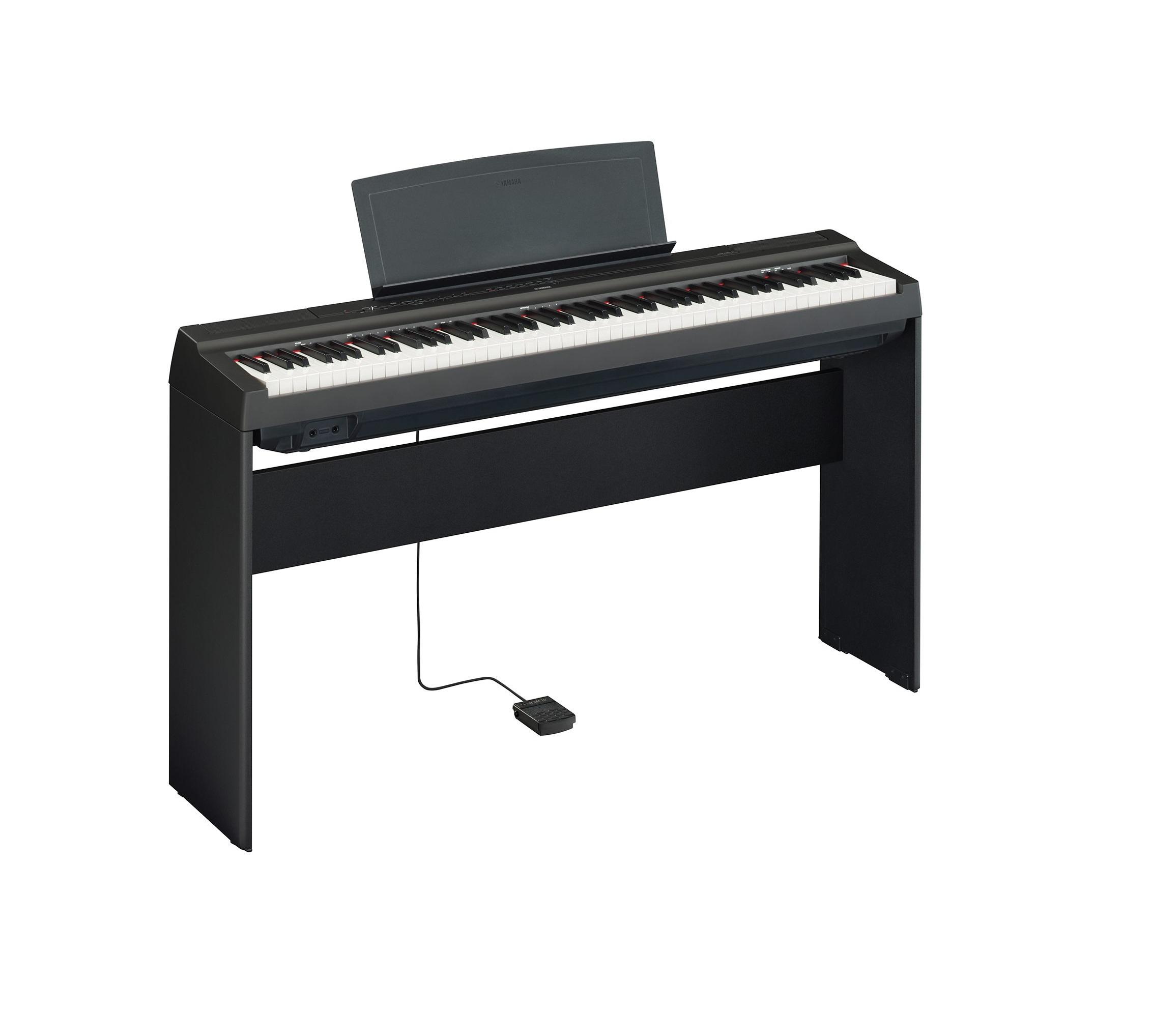 Yamaha P 125 Digitalt Piano, Svart med L 125B stativ GP Musikk