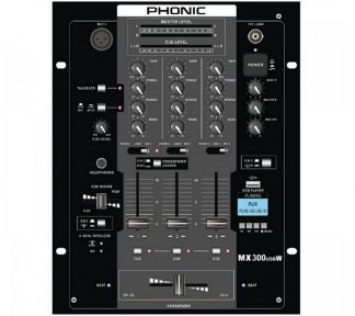 Phonic - MX300 USBW, 3-channel DJ Mixer med USB og Bluetooth