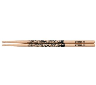 Tama - 5A-F Rhythmic Fire (Natur og svart) trommestikker