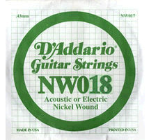 D'Addario - NW018, Single Nickel Wound string