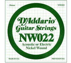 D'Addario - NW022, Single Nickel Wound string