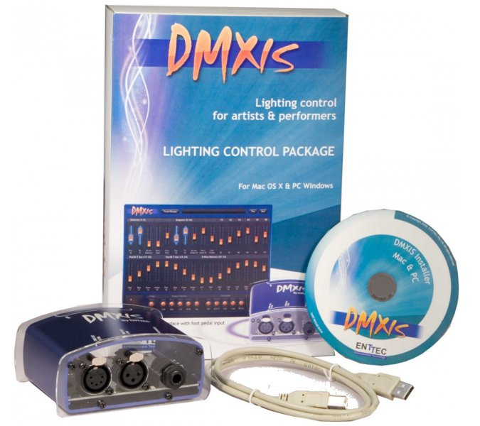 Enttec - DMXIS USB-DMX-pakke inkludert software for PC & MAC