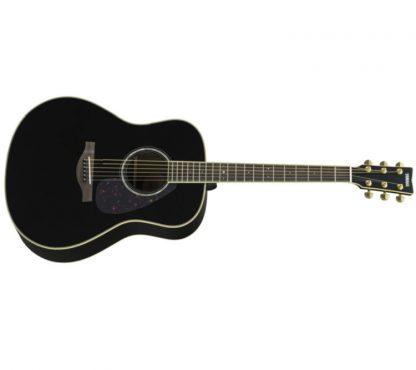 Yamaha - LL6 ARE BK, Akustisk Gitar m/Mikrofon & Koffert