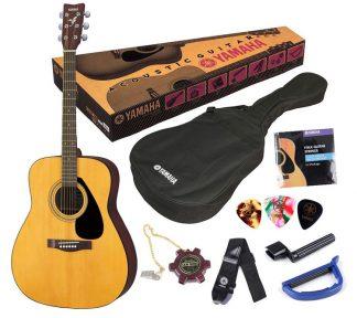 Yamaha - F310P Natural, Komplett akustisk gitarpakke